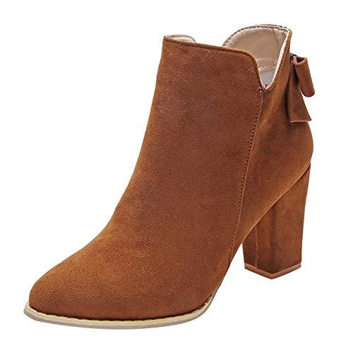 ce79d5c8ab1812 Stiefeletten Damen Schuhe Xinantime Stiefeletten Damen Wildleder Kurze  Stiefel Arbeit Utility Schuhe.