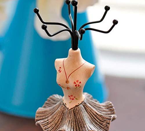Schmiedeeisen-rahmen (ZHAS Schmuck aufbewahrungsbox europäischen kleinen Kleid schmuck Rahmen schmiedeeisen schmuck lagerregal Dekoration grau)