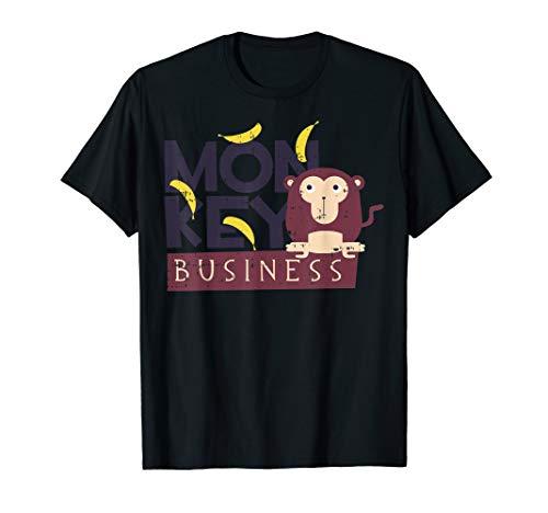 Monkey Business Kostüm Nettes Halloween Outfit T-Shirt (Business Zombie Kostüm)
