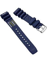 Correa del reloj ZULUDIVER goma pvc Inmersión PVC Caucho Azul 22mm