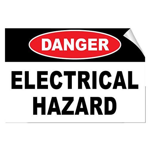 Etiketten-Aufkleber Gefahrengefahr, selbstklebend, UV-geschützt und wetterfest 20×28 inches siehe abbildung