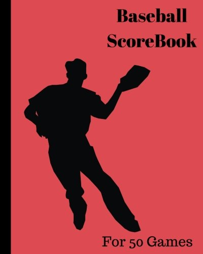 Baseball ScoreBook: 50 games, 8in x 10in, Included most popular stats, Pitching Jiugingge: Volume 8
