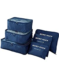 Oxbow® 6 Set Travel Packing Cubes, Luggage Compression Pouches, Multi-Functional Storage Bag, Travel Luggage Organizer, Suitcase Compression Pouches (40 * 30 * 12Cm)