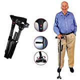 #9: RIANZ Twin Grip Cane Safe & Easy 2 Handled Foldable Walking Stick