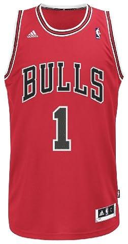 Derrick Rose Chicago Bulls Adidas Revolution 30 Red Swingman Jersey Maillot