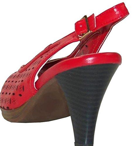 Andrea Conti Plateausandalette Leder rot Rot