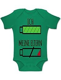 Shirtracer Strampler Motive - Ich und Meine Eltern Batterie - Baby Body Kurzarm Jungen Mädchen