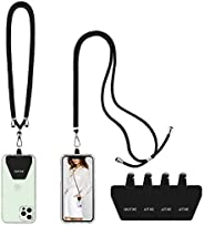 OUTXE Phone Lanyard 2 Packs - 2× Adjustable Neck/Crossbody Lanyard, 4× Durable Patches, Nylon Universal Cell P