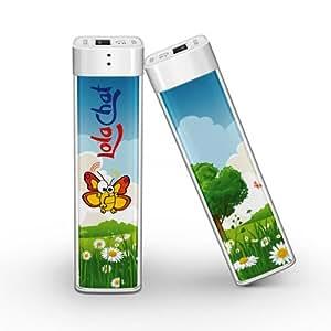 Power Bank colorato LolaChat Nene: caricabatterie portatile universale - Regalo ideale per Anniversario, Compleanno o San Valentino