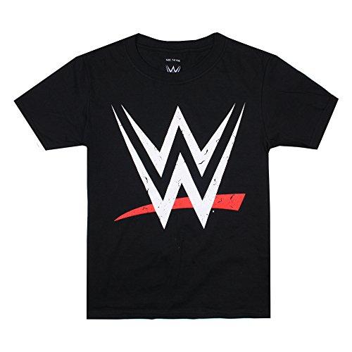 WWE Logo, Camiseta para Niños, Negro (Black BLK), 11-12 Años