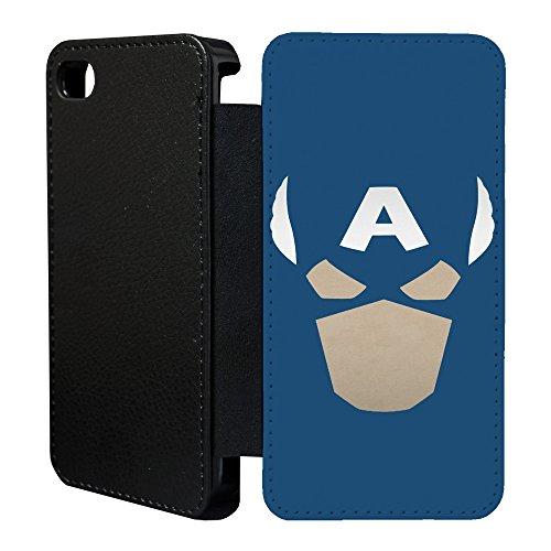 DC Marvel-superhelden comics Minimal Flip Tasche Geldbörse für Apple iPhone 6 - 6S No.23 - Captain America - G1048