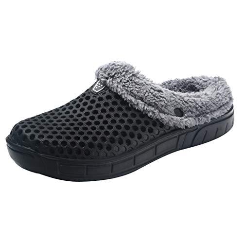 JUSTSELL_Schuhe für Damen,Frauen Aushöhlen Hausschuhe Plüsch Slipper Warm -
