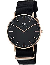 Daniel Wellington Unisex-Armbanduhr CLASSIC BLACK Analog Quarz Textil DW00100150