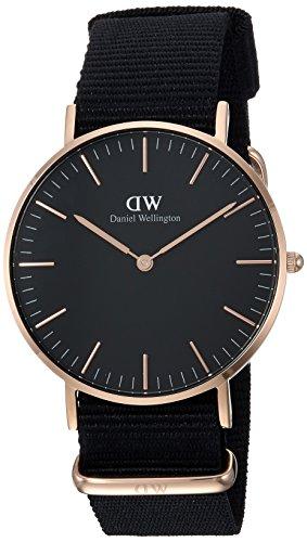 Daniel Wellington Unisex Analog Quarz Uhr mit Textil Armband DW00100150