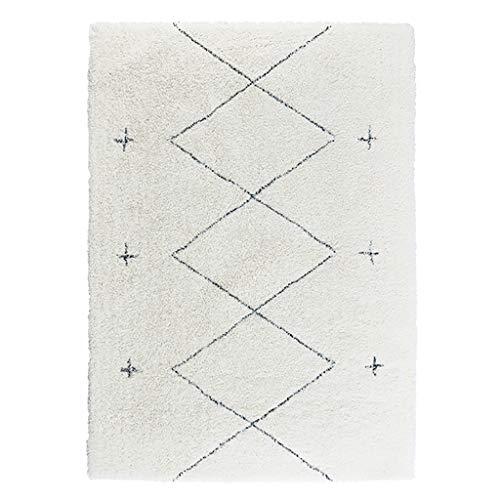 Wohnfläche Rug Rectangle Polypropylenmischung Teppich Streifen Teppich, Europa und Amerika-Art, Anti-Rutsch-Schallschutzmatte Teppich for Wohnzimmer-Schlafzimmer, Dicke ca. 3cm
