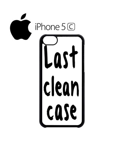 Last Clean Case Mobile Cell Phone Case Cover iPhone 5c Black Weiß