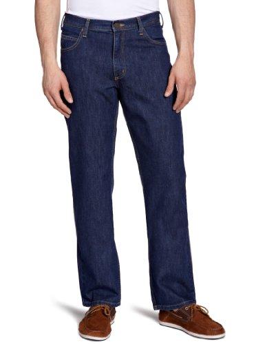 Lee Brooklyn - Jeans - Droit - Homme Bleu (DARK STONEWASH)