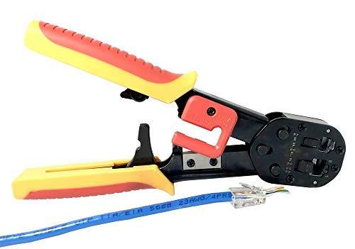 hochwertige Quetschzange RJ45 Sleek Crimp Tool von Platinum Connector für Pass Through und Legacy kabelverbindungen (Sleek tool) -