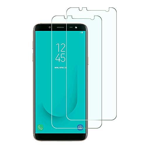 Widamin 2Pack, Kompatibel mit Samsung Galaxy J6 2018 Panzerglas, Displayschutzfolie, Hohe Auflösung Glas, [9H Härte], [Crystal Clearity], [Kratzfest]