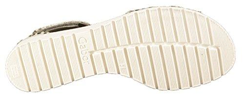 Gabor 44,570 sandali donna Grigio (grigio pietra)