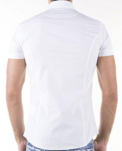 Redbridge Club Kurzarm Hemd R-2156 Weiß Weiß