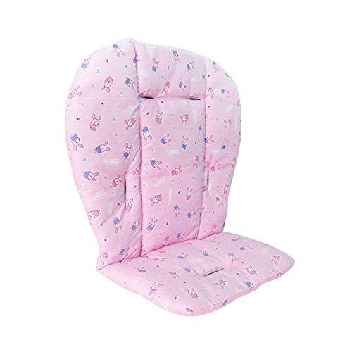 Rocita materassino per seggiolino, tappetino per passeggino seggiolone per auto traspirante tappetino (1pc rosa)