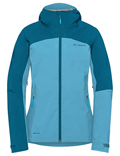 Vaude Damen Moab Rain Jacket Regenjacke für Mountainbikerinnen Jacke Crystal Blue 36