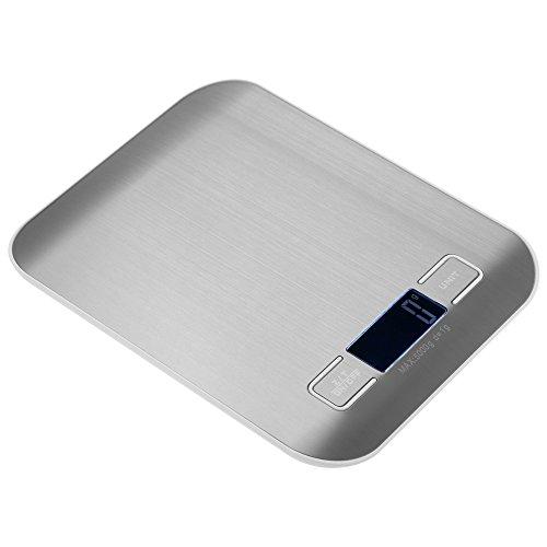 Festnight Genaue Elektrische Küchenwaage Hochpräzise Mini Wagge Tragbar Elektronische Plattformwaage Lebensmittelwaage mit 1,7 Zoll LCD-Bildschirm 6 Einheiten