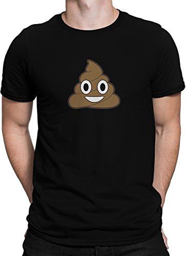 Lachender Kackhaufen Scheißhaufen Smiley Emoticon Emoji / Premium Fun Motiv T-Shirt XS-5XL mit Aufdruck / Ideales Geschenk, Size:XL, (Smile Emoticon Kostüme)