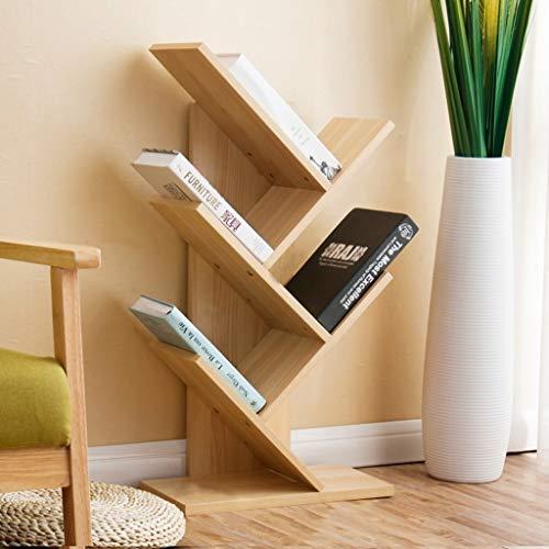 HUIYUAN Bücherregal Lagerregal Wohnzimmer Kombination baumförmigen Kinderzimmer Dekorrahmen 5 Schichten (Color : Beech) (Bücher, Die Ich Gekauft Habe)