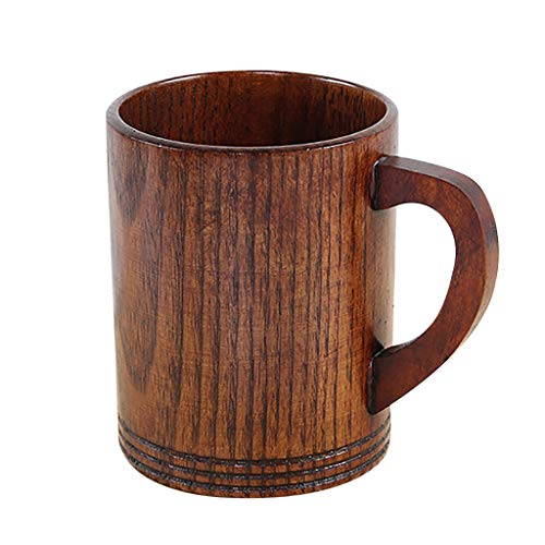Hunpta@ Bierglas,Bierkrug Kleine handgemachte natürliche Massivholz Teetasse aus Holz Wein Kaffee Wasser Trinkbecher,hölzerner Bierkrug Weingläser,Cocktailgläser Weinglas,Becher,Bierglas (I) - Kleine Mädchen Tee-set Schrank
