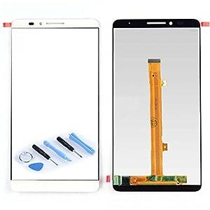 Display LCD Komplett Einheit für Huawei Ascend Mate 7 Reparatur Weiß + Werkzeug Opening Tool