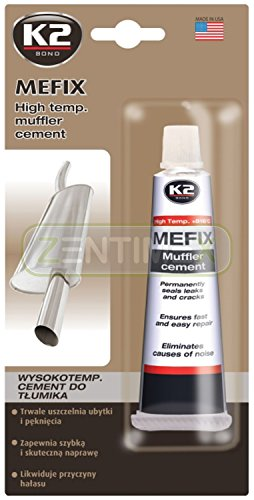 Preisvergleich Produktbild Hochtemperatur Auspuff-Zement Auspuff-Dichtmasse Reparatur-Masse Reparatur-Zement Montagepaste Dichtstoff Abgasanlage gasdicht hochtemperaturbeständig 132g +816°C