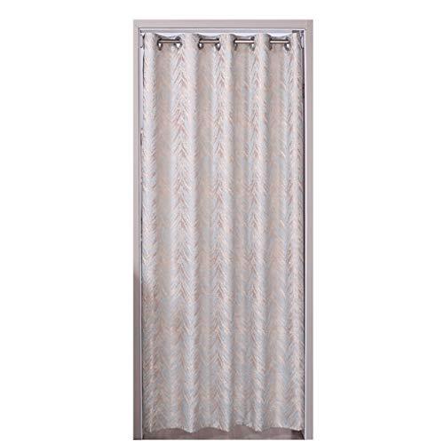 Zlian door curtain - marrone decorazione per pa casa invia asta telescopica anti-polvere blackout punch free air conditioning partition curtain per la camera di misura