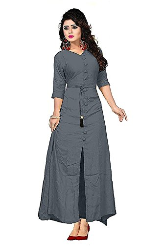 Millennium Users Women's Rayon Grey Dress Material ( MF-041 ) tha great...
