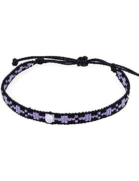 KELITCH Perle Rocailles Perlen Wachs Seil Charm Wicklen Armband Handmade Freundschaft Neu Damen Schmuck