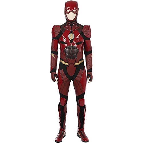QWEASZER Justice League rot The Flash 1: 1 Kostüm Deluxe Edition Superheld Cosplay Kleidung Kostüm Body Overalls Film Kleidung Requisiten Anpassbare Größe,Flash-Customizable - Benutzerdefinierte Flash Kostüm