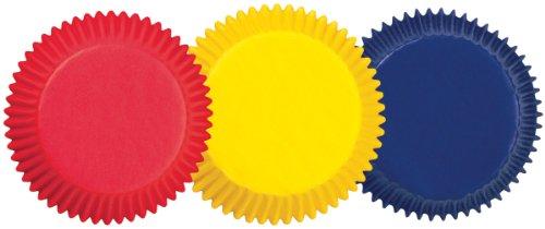 Wilton Papierförmchen in Standardgröße, Grundfarben, 75Stück