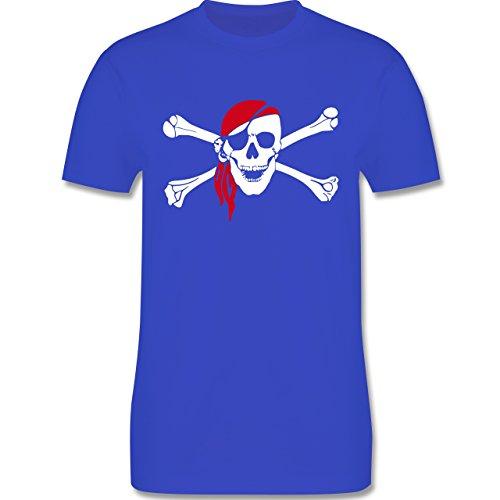 Piraten & Totenkopf - Totenkopf Pirat Kopftuch - Herren Premium T-Shirt Royalblau