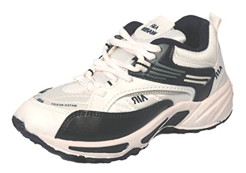 Air Water Boys White Running Shoes