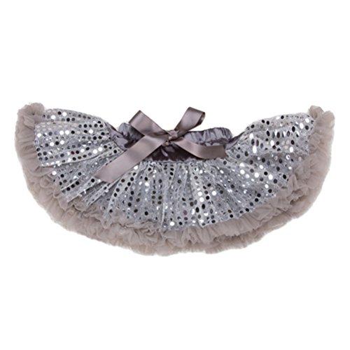 (Zhhlinyuan Summer Kids Party Dance Ballet Pettiskirts Baby Girls Princess Dots Sequins Tutu Skirt One Size)
