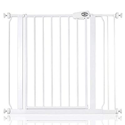 Bettacare Easy Fit Gate Pressure Fitted Stair Gate 75cm - 148cm (87.9cm - 95.9cm, White)