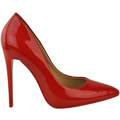 Brevetto Tacchi Scarpe Formale Natale Scarpe Alti Con A Punta Classe Femmina I Rosso S46xw4