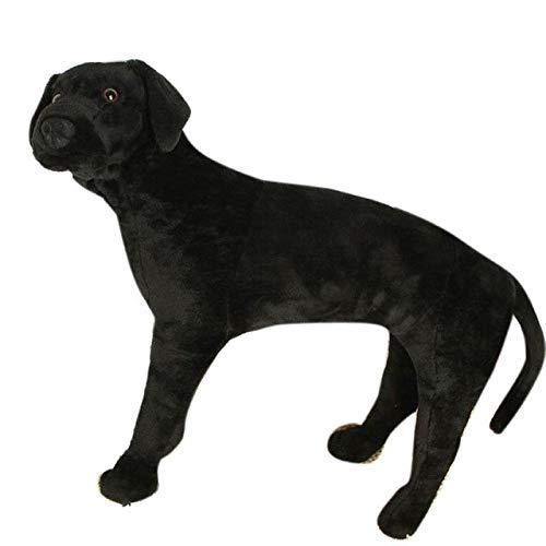 XuBa FT50608 Hundespielzeug, groß, gefüllt, weiches Plüsch, süßes Labrador-Retriever, 61 cm, tolles Geschenk für Kinder, Schwarz -