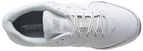 New Balance Women's WW411WT2 Walking Shoe, White, 10 2A US White
