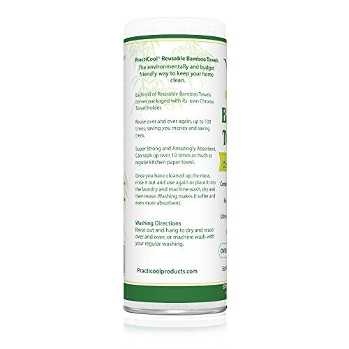 practicool Bambus Handtücher mit Chrom-Halterung - 3