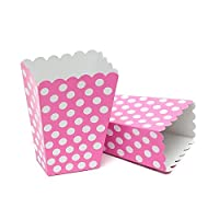 Beautiful Balloons 30 Pink Polka Dot Treatboxes with 30 Cellophane Bags - Party Bags