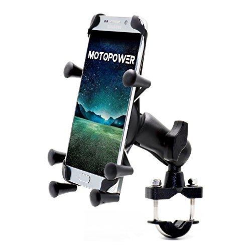 MOTOPOWER MP0619 bicicleta motocicleta soporte del teléfono celular para cualquier teléfono inteligente...