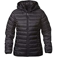 Arkansas. Womens Down Feel Jacket. Lightweight quilted jacket with detachable hood. S-2XL