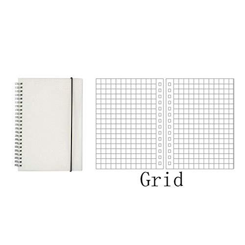 YPGFL Notizbuch A5 Notebook Planer Machen Dot Tagebuch Sketch Zeitplan Agenda Organizer Scrub Cover Einfachen Stil, Raster